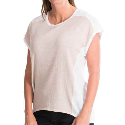 Pendleton Pieced Shirt - Short Dolman Sleeve (For Women) in White/Oxford Tan - Closeouts
