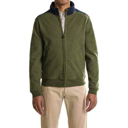 Pendleton Pieced Sweatshirt - Full Zip (For Men) in Olive/Faded Indigo - Closeouts