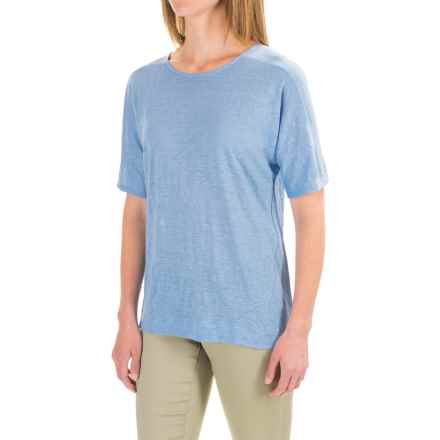 Pendleton Pieced T-Shirt - Linen, Short Sleeve (For Women) in Sky Blue - Closeouts