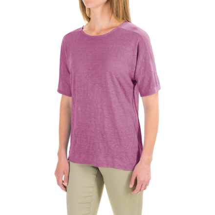 Pendleton Pieced T-Shirt - Linen, Short Sleeve (For Women) in Tulipwood - Closeouts