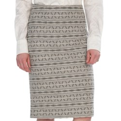 Pendleton Pine Valley Jacquard Skirt - Wool (For Women) in Soft Grey