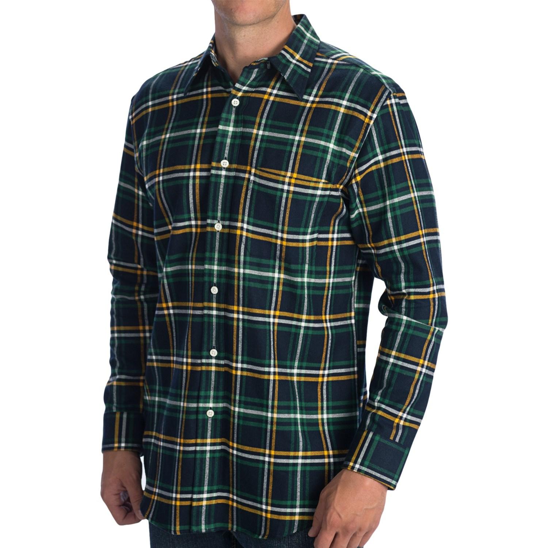 Pendleton Plaid Flannel Dress Shirt Long Sleeve For Men
