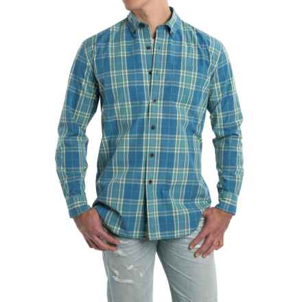 Pendleton Plaid Surf Shirt - Long Sleeve (For Men) in Dusty/Blue/Yellow - Closeouts