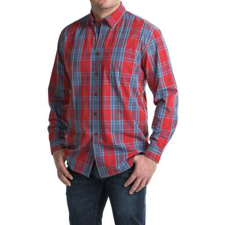 Pendleton Plaid Surf Shirt - Long Sleeve (For Men) in Red/Blue - Closeouts
