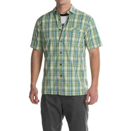Pendleton Plaid Surf Shirt - Short Sleeve (For Men) in Green/Blue - Closeouts