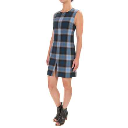 Pendleton Plaid Whitney Wool Vest Dress - Sleeveless (For Women) in Black/Blue Worsted Plaid - Closeouts