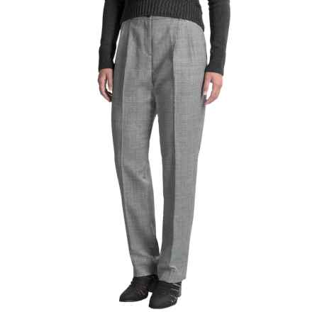 Pendleton Pleated Worsted Wool Trouser Pants (For Women) in Grey/Black Stripe - Closeouts