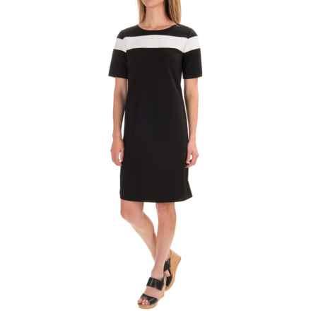 Pendleton Ponte Color-Block Dress - Short Sleeve (For Women) in Black Ponte - Closeouts
