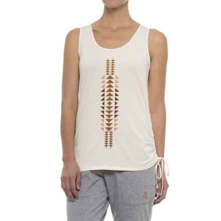 Pendleton Printed Jersey Long Tank Top (For Women) in Off White - Closeouts