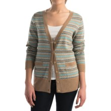 Pendleton Quimby Cardigan Sweater - Merino Wool (For Women) in Camel Heather Multi - Closeouts