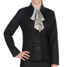 Pendleton Quimby Worsted Crepe Jacket (For Plus Size Women) in Black - Closeouts