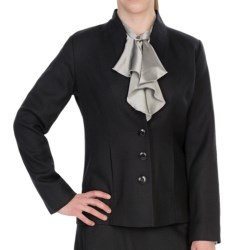 Pendleton Quimby Worsted Crepe Jacket (For Plus Size Women) in Black