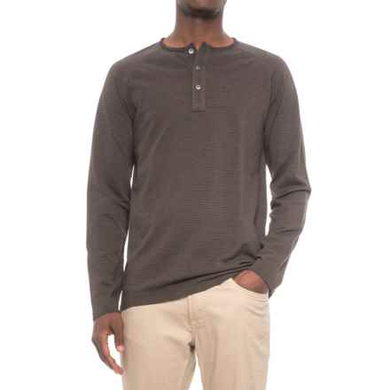Pendleton Raglan Outdoor Henley Shirt - Long Sleeve (For Men) in Coffee Stripe - Closeouts