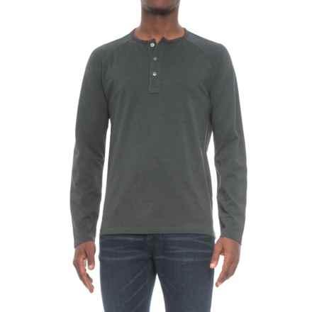 Pendleton Raglan Outdoor Henley Shirt - Long Sleeve (For Men) in Green Stripe - Closeouts