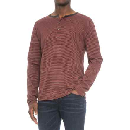 Pendleton Raglan Outdoor Henley Shirt - Long Sleeve (For Men) in Red Stripe - Closeouts