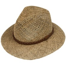 Pendleton Raised Tip Fedora Hat - UPF 50+, Seagrass Straw (For Men and Women) in Natural - Closeouts