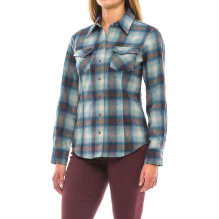 Pendleton Ranch Hand Western Shirt - Merino Wool, Snap Front, Long Sleeve (For Women) in Brown Multi Plaid - Closeouts