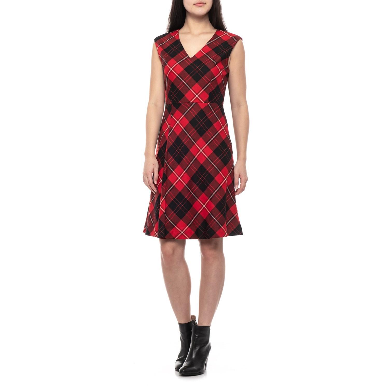 Pendleton Redblack Plaid V Neck Wool Dress For Women Save 77