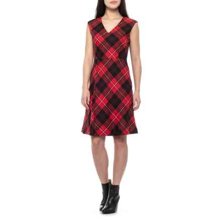 Pendleton Red/Black Plaid V-Neck Wool Dress - Sleeveless (For Women) in Red/Black Plaid