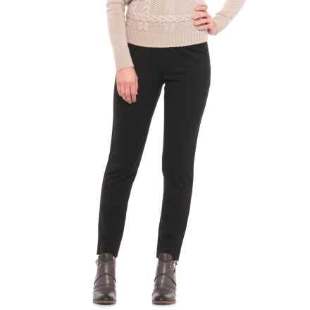 Pendleton Reed Knit Pants (For Women) in Black Ponte - Closeouts
