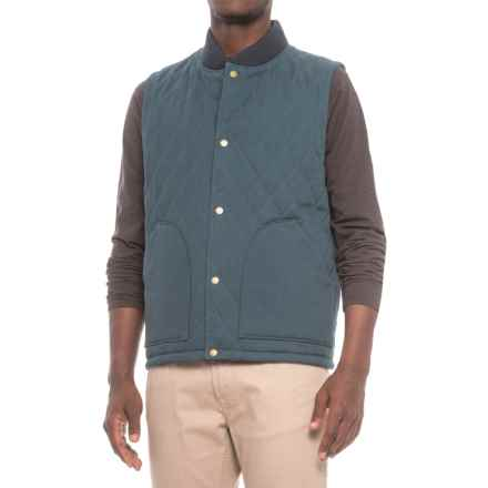 Pendleton Reversible Canvas-Wool Vest - Insulated (For Men) in Navy/Indigo Plaid - Closeouts