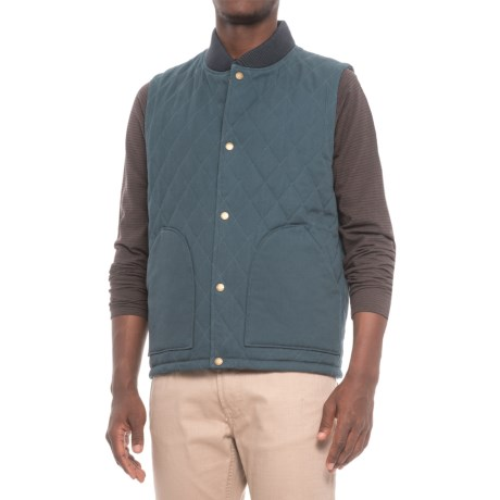 Pendleton Reversible Canvas-Wool Vest - Insulated (For Men) in Navy/Indigo Plaid
