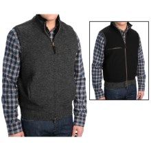 Pendleton Reversible Territory Vest - Full Zip (For Men) in Black Heather - Closeouts