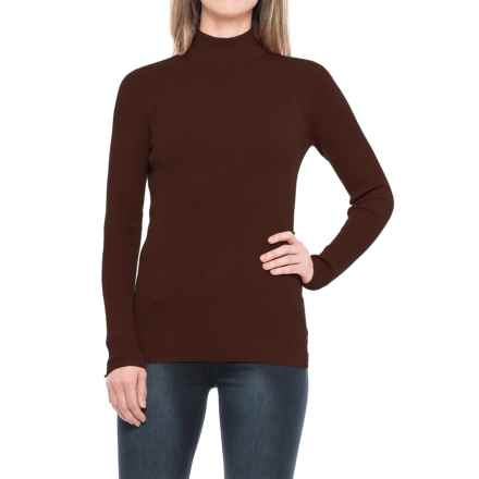 Pendleton Rib Mock Neck Shirt - Long Sleeve (For Women) in Chicory Coffee - Closeouts