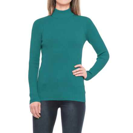Pendleton Rib Mock Neck Shirt - Long Sleeve (For Women) in Colonial Blue - Closeouts
