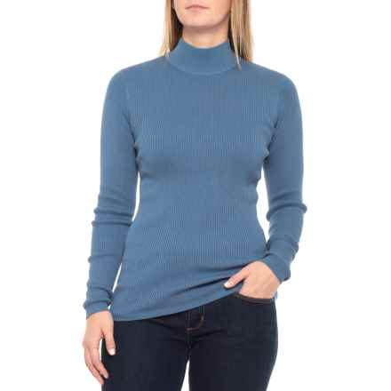 Pendleton Rib Mock Neck Shirt - Long Sleeve (For Women) in Coronet Blue - Closeouts