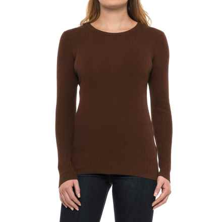 Pendleton Ribbed Silk-Blend Sweater (For Women) in Chicory Coffee - Closeouts