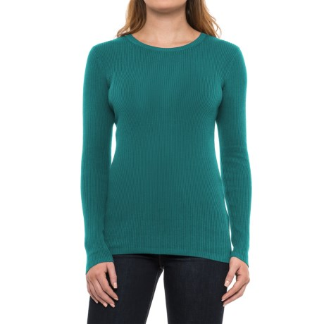 Pendleton Ribbed Silk-Blend Sweater (For Women) in Colonial Blue