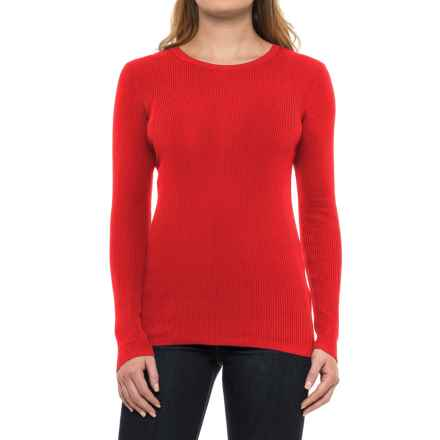 Pendleton Ribbed Silk-Blend Sweater (For Women) in Tomato Red - Closeouts
