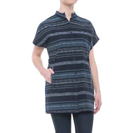 Pendleton River Vest-Like Shirt - Short Sleeve (For Women) in Navy Multi Stripe - Closeouts