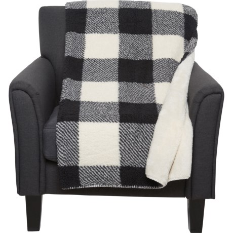 Enjoyable Pendleton Rob Roy Faux Sherpa Throw Blanket 50X70 Black And White Gmtry Best Dining Table And Chair Ideas Images Gmtryco
