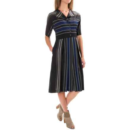 Pendleton Ryer Stripe Dress - Worsted Wool, Short Sleeve (For Women) in Black Worsted Stripe - Closeouts