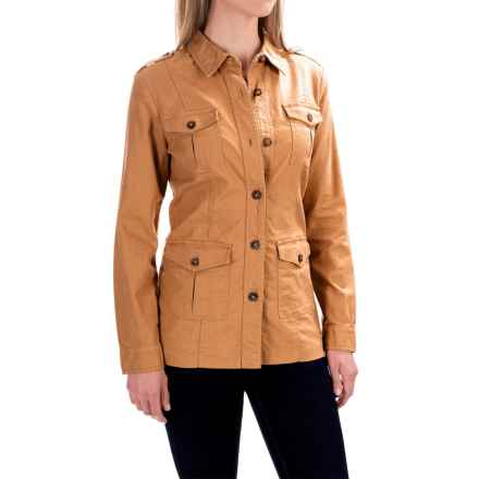 Pendleton Safari Jacket - Linen-Cotton (For Women) in Sahara Sand - Closeouts