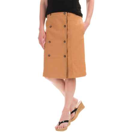 Pendleton Safari Skirt - Linen-Cotton (For Women) in Sahara Sand - Closeouts