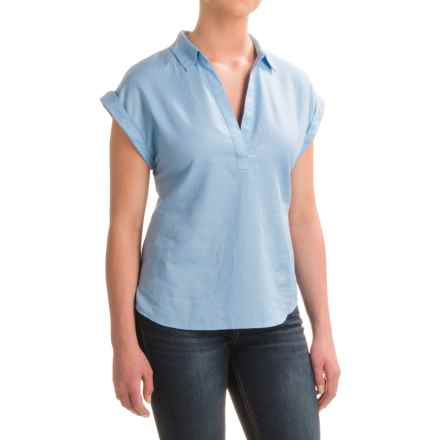 Pendleton Sandi Cotton Shirt - V-Neck, Short Sleeve (For Women) in Sky Blue - Closeouts