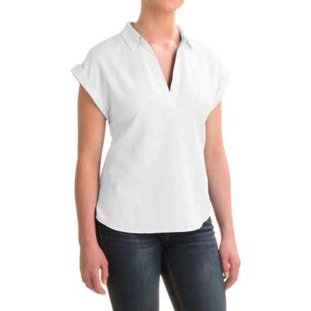 Pendleton Sandi Cotton Shirt - V-Neck, Short Sleeve (For Women) in White - Closeouts