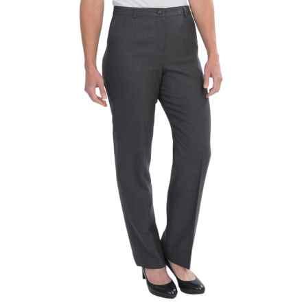 Pendleton Seasonless True Fit Trouser Pants - Wool (For Women) in Black/Grey - Closeouts