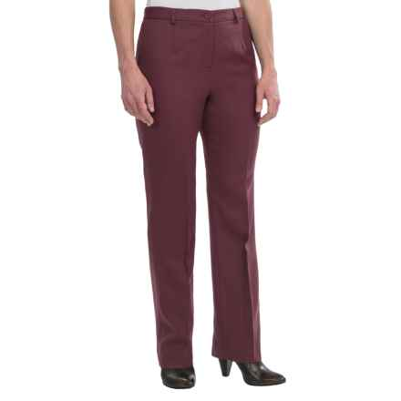 Pendleton Seasonless True Fit Trouser Pants - Wool (For Women) in Burgundy - Closeouts