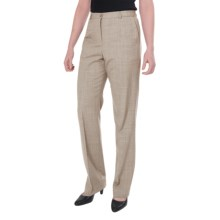 Pendleton Seasonless True Fit Trouser Pants - Wool (For Women) in Cashew Mix - Closeouts