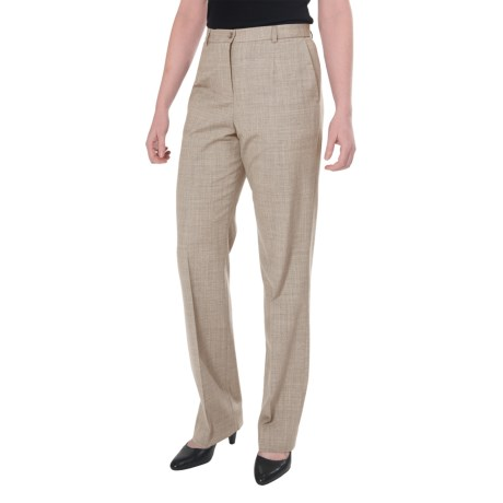 Pendleton Seasonless True Fit Trouser Pants - Wool (For Women) in Cashew Mix