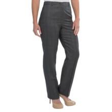 Pendleton Seasonless True Fit Trouser Pants - Wool (For Women) in Charcoal Glen - Closeouts