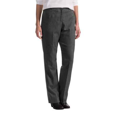 Pendleton Seasonless True Fit Trouser Pants - Wool (For Women) in Charcoal Mix - Closeouts