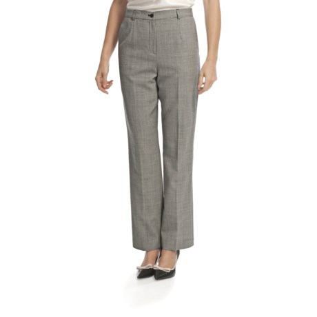Pendleton Seasonless True Fit Trouser Pants - Wool (For Women) in Soft Brown Mix