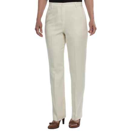 Pendleton Seasonless True Fit Trouser Pants - Wool (For Women) in Ivory - Closeouts
