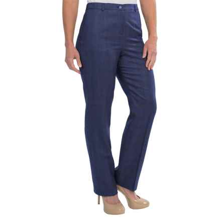 Pendleton Seasonless True Fit Trouser Pants - Wool (For Women) in Navy/Catalina Blue - Closeouts