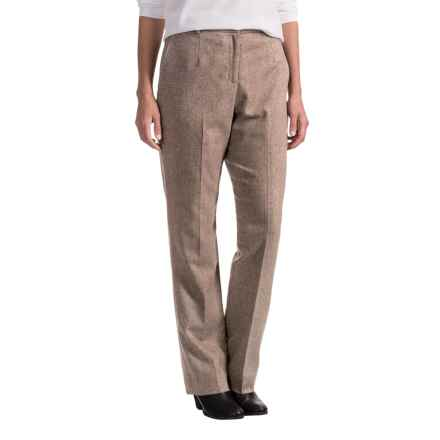 Pendleton Seasonless True Fit Trouser Pants - Wool (For Women) in Oatmeal - Closeouts